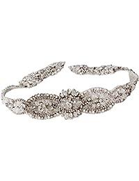 TOPQUEEN - Cinturón - para mujer Plateado plata talla única