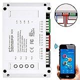 Sonoff 4CH 4 Canales WIFI Smart Switch Interruptor Inteligente Inalámbrico de Control Remoto Smart Home Automation de Montaje para Teléfono Control de