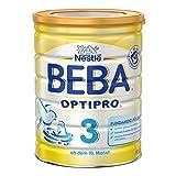 Nestlé BEBA Optipro 3 Folgemilch, ab dem 10. Monat, Pulver, wiederverschließbar mit praktischer Löffelablage, 800 g Dose, 6er Pack (6 x 800 g)