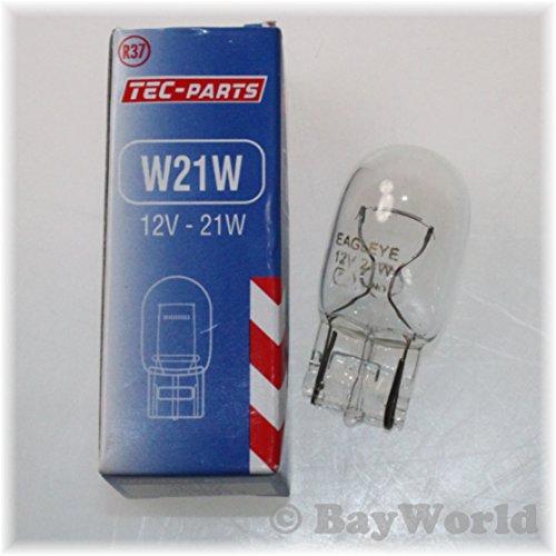 Preisvergleich Produktbild W21W 12V Glassockel Birne W3x16d Sockel (T20 Weedge)