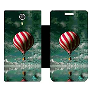 Skintice Designer Flip Cover with Vinyl wrap-around for Lenovo Zuk Z1, Design - Balloon
