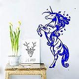 guijiumai Vinile Adesivo Jumping Love Girl Cameretta per Bambini Casa Fiaba Fantasy Decorazione Adesivi F 1 42x78cm