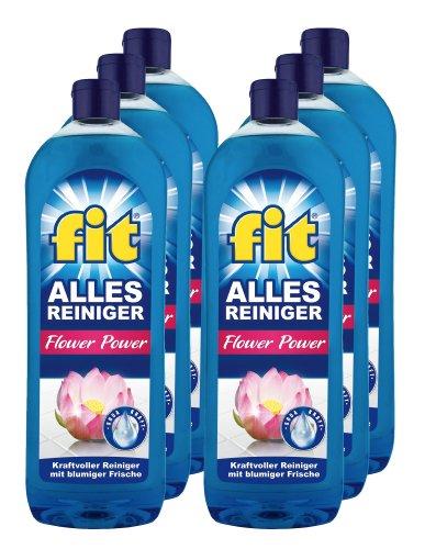 6er Vorteilspack fit Allesreiniger Allzweckreiniger Flower Power 6000 ml