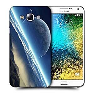 Snoogg Half Moon Printed Protective Phone Back Case Cover ForSamsung Galaxy E7
