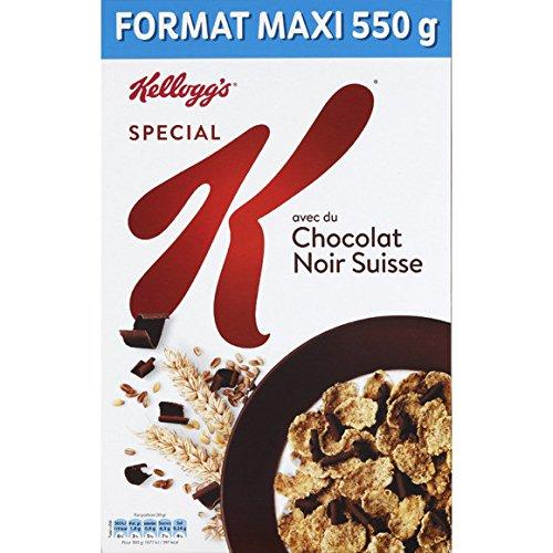 spécial k Pétales de riz et de blé complet aux feuilles de choco lat noir. - ( Prix Unitaire ) - Envoi Rapide Et Soignée