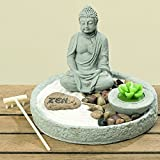 Zen Garden Feng Shui 7pzi with Tealight Rena Buddha 20 cm - Tinas Collection