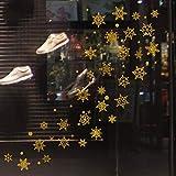 Wandbild ZOZOSO Siebdruck, Goldpulver, Silberpulver, Schneeflocke, Weihnachtsfenster, Glaswandaufkleber, Hintergrunddekoration Und Wandgemälde.