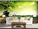 Yosot 3d Custom Any Size Moderne Tapete Bambus Stein Luxus Dekor Kunst Wandverkleidung Schlafzimmer Wandbild Hintergrundbilder-350Cmx245Cm