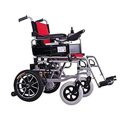 GYH Electric Wheelchair, Foldable Nursing Four-Wheel Electric Scooter, Elderly Disabled Automatic Wheelchair, Load Capacity 100kg (#)