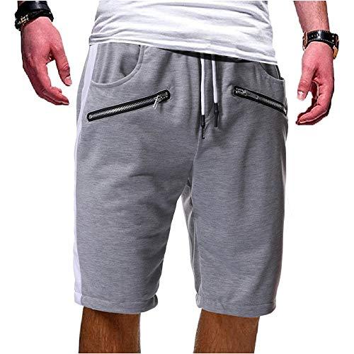 Aiserkly Herren Reißverschluss Baumwolle Multi-Pocket Shorts Jogging Hosen Freizeithose Bequeme Stoffhose Cargo Kurze - Cord-snowboard-hose