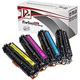 PerfectPrint Tonerkartuschen kompatibel mit HP 305X/305A, CE410X, CE411A, CE412A, CE413A, HP Colour LaserJet Pro 300MFP M351a M375nw, Pro 400M451DN, M451DW, M451nw, MFP M475dn, M475dw (4Stück, schwarz, cyan, gelb und magenta) - gut und günstig