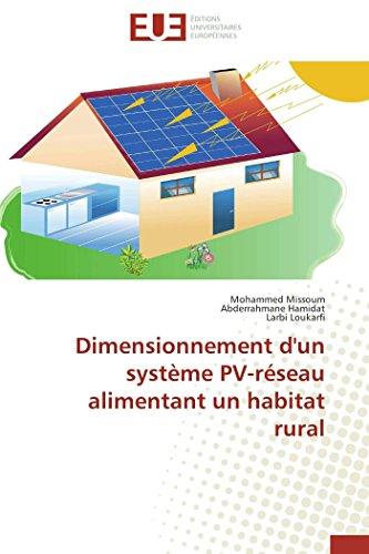 Dimensionnement d'un système pv-réseau alimentant un habitat rural