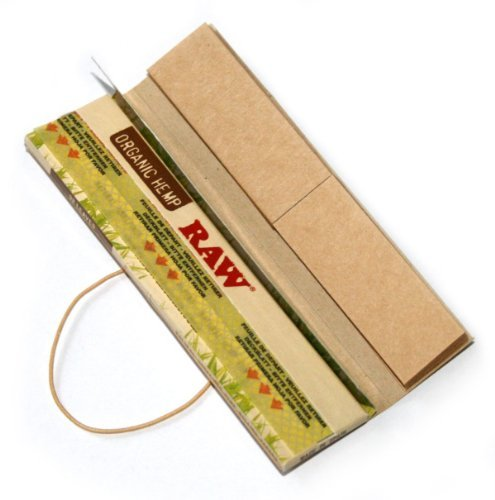 RAW Organic Connoisseur King Size Slim Rolling Papers & Tips Pack by RAW