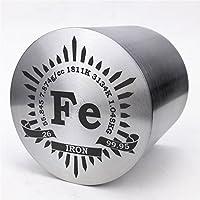 1kg Fein Wenden Eisen Metall Zylinder 56× 56mm 99,95% Gravur Periodensystem