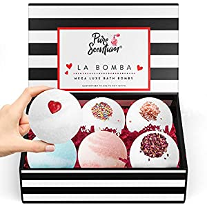 Bath Bombs for Women Gifts Christmas - Luxury Bath Bomb Gift Set for Women – 6 Vegan Organic Bath Bombs - UK Made