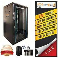 27U Server cabinet 600 (P) x 800 (D) x1400 (h) vetro porta