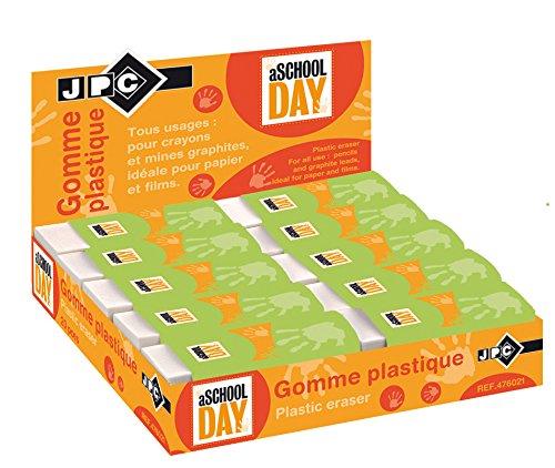 jpc-creations-476021-confezione-da-20-gomme-per-cancellare-61-x-22-x-12-mm-colore-bianco