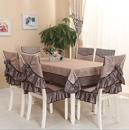 Fgjhdyjhgvk cvb tovaglia rettangolare tovaglia quadrata cucina copridivano sedia da pranzo antimacchia/resistente alla muffa (1 * tovaglia + 6 * coprisedili),1,130cm*180cm/51 * 70.9inch