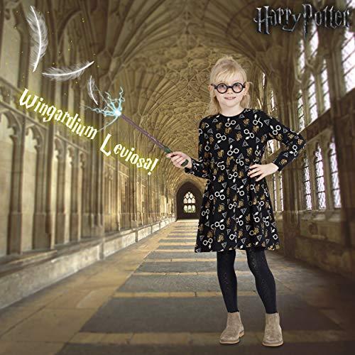 51xOql3LAJL - Harry Potter. Merchandising Vestidos para Niña de Fiesta Gryffindor Magia Hogwarts (6 años)