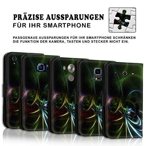 Wallet Book Style Flip Handy Tasche Case Schutz Hülle Schale Motiv Etui für Apple iPhone 6 Plus / 6S Plus - Variante UMV11 Design12 Design 10