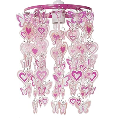 Hearts and Butterflies Non Electric Pendant Shade