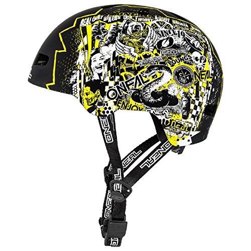 O\'Neal Dirt Lid ZF Rift Fahrrad MTB BMX Helm Mountain Bike BMX FR Fidlock Magnet Verschluss, 0584-7, Farbe Gelb, Größe M/L