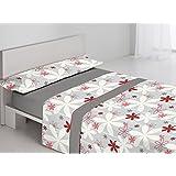 juego de sábanas de Invierno,Coralina, tacto suave. modelo Marga gris. (135)