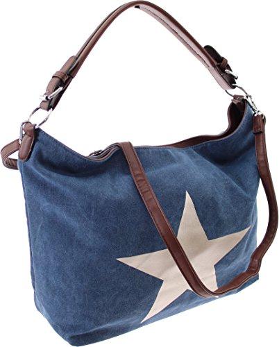 XXL-TASCHE Raumwunder die perfekte City Damen-Umhängetasche Schulter Tasche Messenger Bag Neu weiblich lässige Canvas Tasche Henkeltasche Beuteltasche Tragetasche modisch neu (Purple) Blue