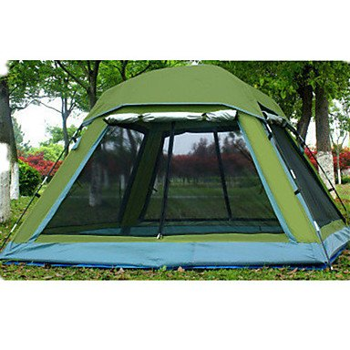 FFZH 5-8 persons Tent Double Family Camping Tents Three Rooms