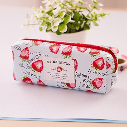 borse per studenti cancelleria creativa piccole frutta fresca party girls giardino matita ( colore : Fragole ) - Frutta Cancelleria
