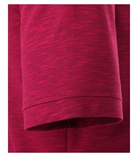 Casa Moda - Herren Polo Shirt in Melange Optik und Brusttasche in verschiedenen Farben (972630300) Pflaume (962)
