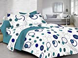 HighLife 120 TC 100% Ahmedabad Cotton 1 Bedsheet with 2 Pillow Covers - New Royal White