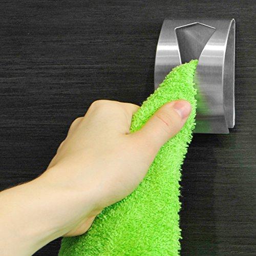 Tatkraft Iris Porta Asciugamano Adesivo Acciaio Inox