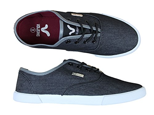 VOI Mens Trainers Jeans Fiery VFW00212 LACE-UP PILIMSOLLS Trainers in Black-Grey Colour RRP £29.99 (7)