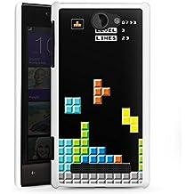 HTC Windows Phone 8S Housse Étui Protection Coque Jeu Tetris 8 bit couleurs