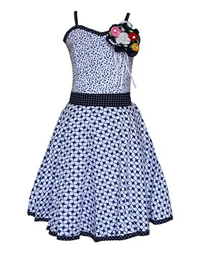 Priyank Girls' Dress (114White_3-4 years)