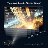 """Proyector, WiMiUS 5500 Lúmenes Proyector Full HD 1920x1080P Nativo Proyector Video Compatible 4K Pantalla 300 """" Ajuste Digital 70,000 Horas Proyector LED para Cine en Casa y Presentación Empresarial"""