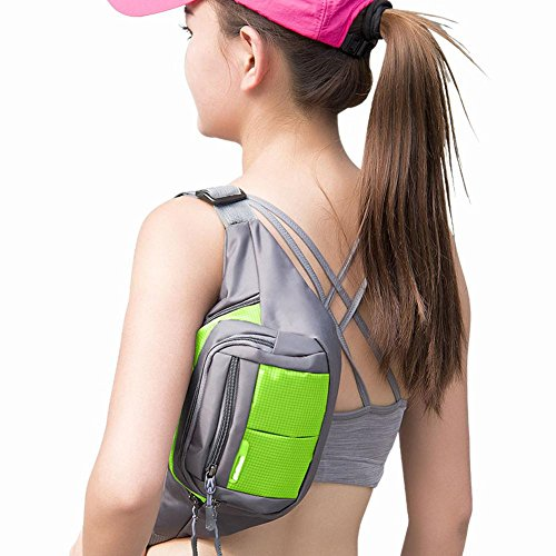Mini Multifunktions Outdoor Sport Taille Tasche, Running Taille Tasche, Fitness Taille Tasche, Klettern Kessel Bagmen und Frauen Brust Pack Hip Pack, Oblique Kreuz Paket E