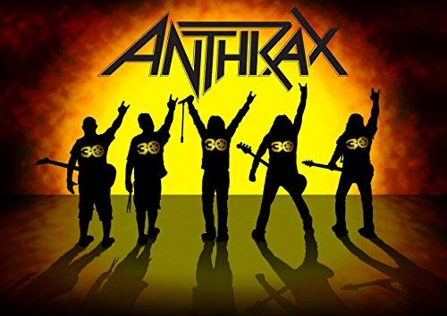Anthrax 3, A3, laminiertes Poster, Foto, Scott Ian, Joey Belladonna, Frank Bello, Charlie Benante, Scott Ian, Kunstdruck, Rock, Metall, Album, Bild, Band, Musik, Einzigartige,, Death, Metall, (Charlie Belle)