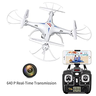 Syma X5SW RC 2.4G 6-Axis FPV Quadcopter Drone Helicopter Headless With HD Camera IOS&Android Sync Real Time Video by Syma