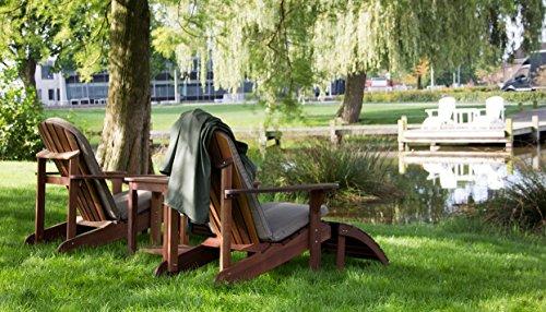 Adirondack Gartenstuhl + Fußstütze, aus exklusivem Mahagoni Hartholz - 5