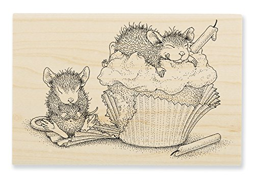 Unbekannt Stampendous House Mouse Holz Stempel, Cupcake Happy