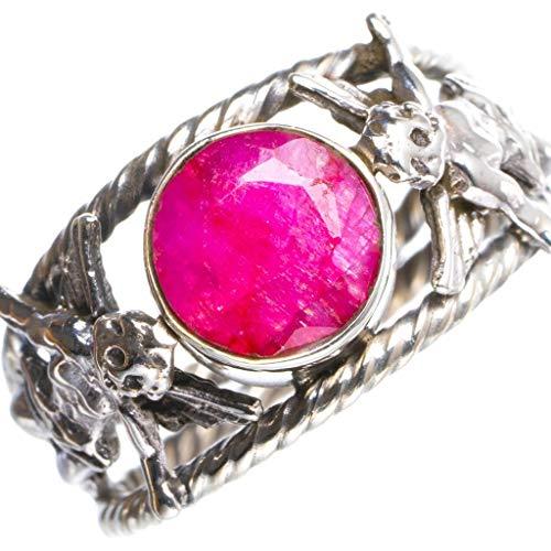925er Sterling Silber Cherry Ruby Einzigartig Handgefertigt Ringe 17 1/2 Cherry Red Y4725
