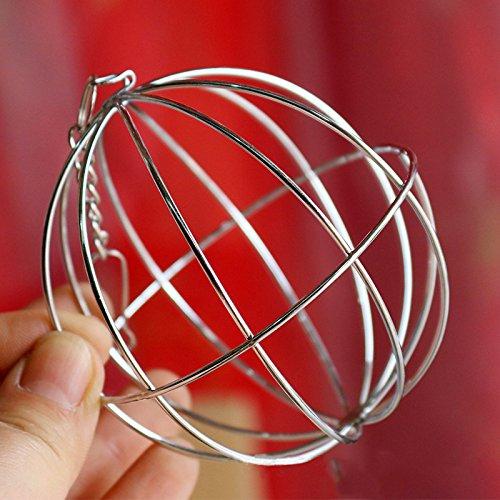 Futterball Kugel Dispenser Spielzeug Hängend für Kaninchen Hamster Edelstahl , 8cm - 6