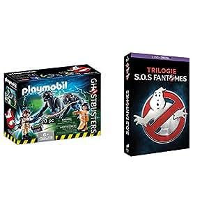 Playmobil - 9223 - Venkman et le Chien de la Terreur + SOS Fantômes Trilogie [DVD + Copie digitale]
