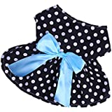 Segolike Lovely Puppy Skirt Princess Dress Bowtie Party Clothes For Small Pet Dog 5-Size - Black, Xl