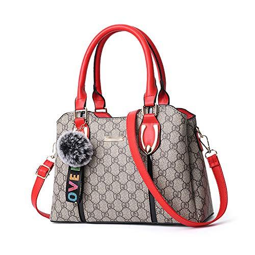 KINGEE-B Damenhandtasche, Umhängetasche -Crossbody,Stilvoll Und Tragbar, Geeignet Zum Arbeiten, Einkaufen Und Ausgehen,Red