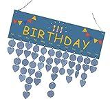Homyl Wandkalender Holz Familienkalender Geburtstagskalender Hängende Kalender für Geburtstag Erinnerung