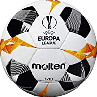 Molten UEFA Europa League Official Match Ball 1710, Unisex, F5U1710-G9, White/Black/Orange, Taglia 5