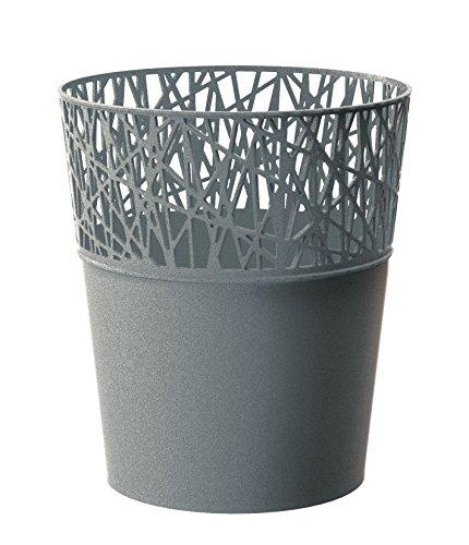 Prosper Plast Dcit115–405u 11.3 x 13 cm City Pot de fleurs – Gris pierre